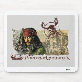 Piratas del arte del Caribe Disney de la película Alfombrillas De Ratones