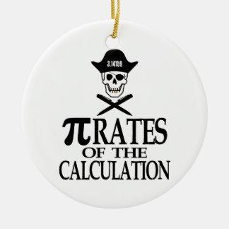 Piratas del cálculo ornamento para arbol de navidad