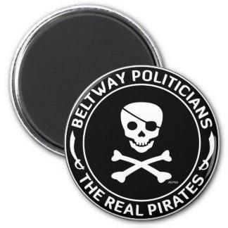 Piratas del cinturón de ronda imán redondo 5 cm