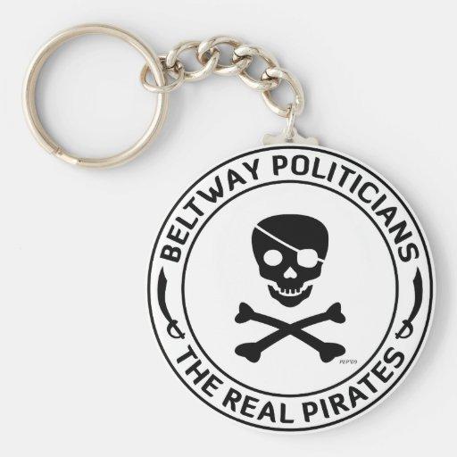 Piratas del cinturón de ronda llavero redondo tipo pin