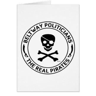 Piratas del cinturón de ronda tarjeta de felicitación