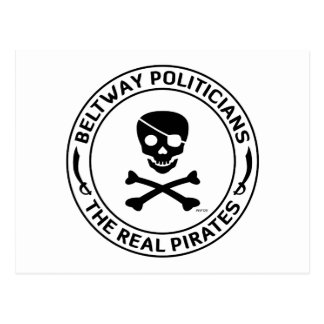 Piratas del cinturón de ronda postales