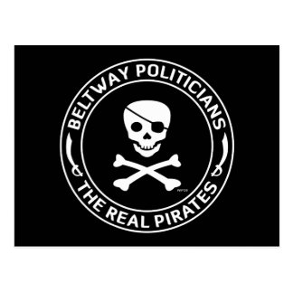 Piratas del cinturón de ronda tarjeta postal