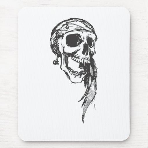 Piratas del cráneo del Caribe Alfombrilla De Ratón
