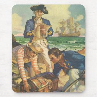 Piratas del cuento de hadas del vintage isla del tapete de ratones