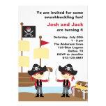 Piratas del cumpleaños invitación personalizada