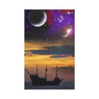 Piratas del espacio lona envuelta para galerías