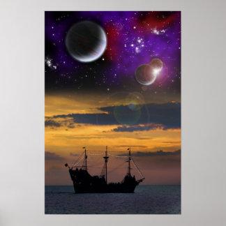 Piratas del espacio póster