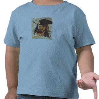 Piratas del gráfico del Caribe de Jack Sparrow Camiseta