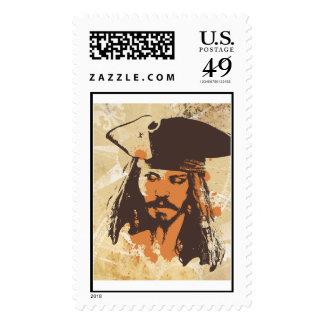 Piratas del gráfico del Caribe de Jack Sparrow Sellos