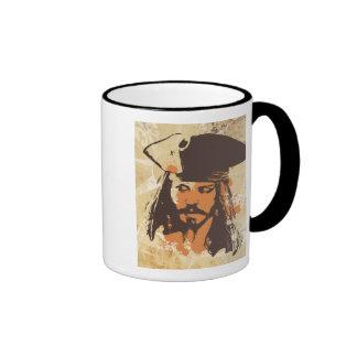 Piratas del gráfico del Caribe de Jack Sparrow Taza De Dos Colores