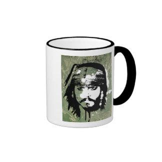 Piratas del Grunge de Jack Sparrow del Caribe Taza De Dos Colores
