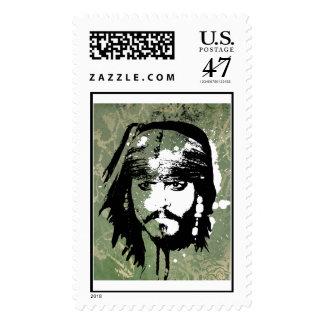 Piratas del Grunge de Jack Sparrow del Caribe Timbre Postal