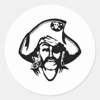 Piratas del pirata pegatina redonda