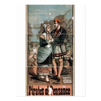 Piratas del teatro del vintage de Penzance Postales