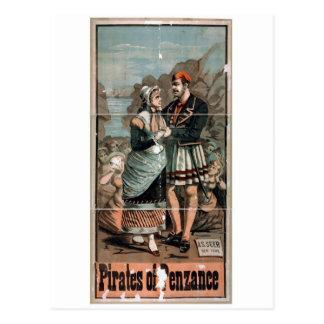 Piratas del teatro del vintage de Penzance Postal