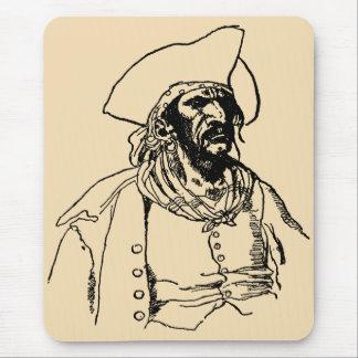 Piratas del vintage, Bucanero malvado de Howard Mouse Pads