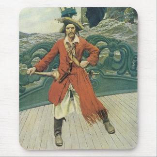 Piratas del vintage, capitán Keitt de Howard Pyle Alfombrilla De Ratones
