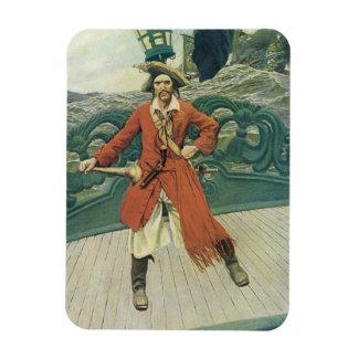 Piratas del vintage, capitán Keitt de Howard Pyle Rectangle Magnet