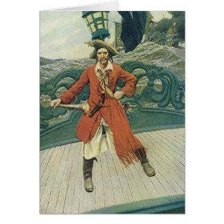 Piratas del vintage, capitán Keitt de Howard Pyle Tarjeta De Felicitación