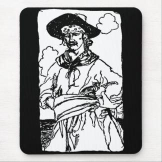 Piratas del vintage, capitán Sketch de Howard Pyle Tapete De Ratón