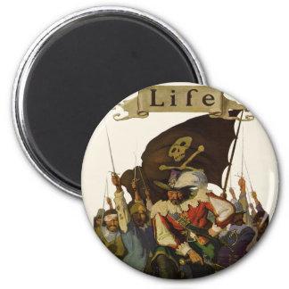 Piratas del vintage de la vida 1921 iman de nevera