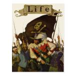 Piratas del vintage de la vida 1921 tarjeta postal