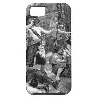 Piratas del vintage que beben y que luchan en la iPhone 5 fundas