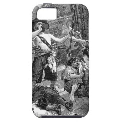 Piratas del vintage que beben y que luchan en la n iPhone 5 fundas