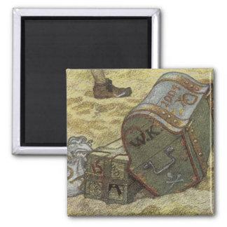 Piratas del vintage, William Kidd que entierra el Imán Cuadrado