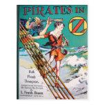 Piratas en la nave tarjeta postal