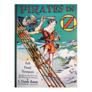 Piratas en la nave tarjetas postales