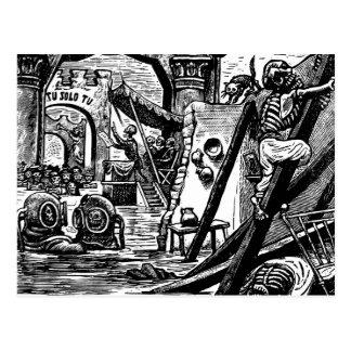 Piratas esqueléticos circa 1951 postal