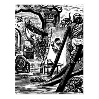 Piratas esqueléticos circa 1951 postales