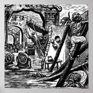 Piratas esqueléticos circa 1951 póster