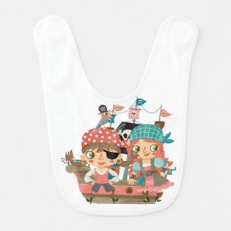 Piratas femeninos baberos para bebé