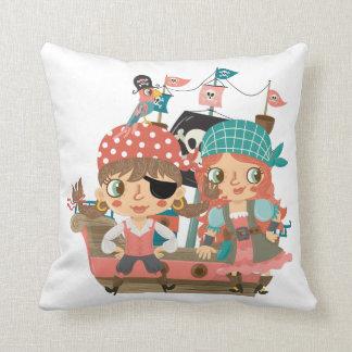 Piratas femeninos cojín decorativo