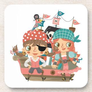 Piratas femeninos posavasos de bebida