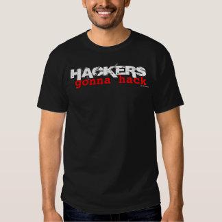 Piratas informáticos que van a cortar - la camisa