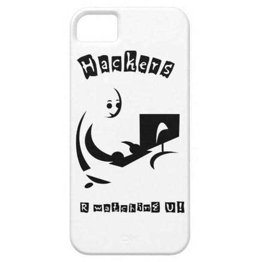 ¡PIRATAS INFORMÁTICOS R que miran U! iPhone 5 Case-Mate Protectores