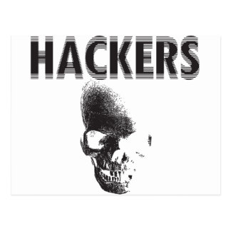 Piratas informáticos tarjeta postal