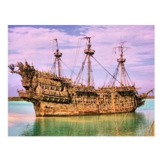 Piratas náufragos de la isleta del Caribe Tarjeta Postal