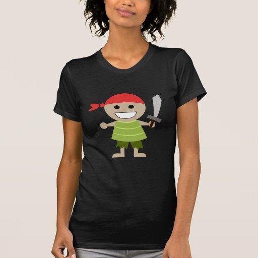piratas (negro) camiseta