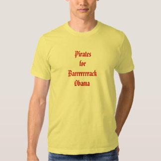 Piratas para Barrrrrrrack Obama Playera