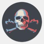 Piratas para el cambio pegatina redonda