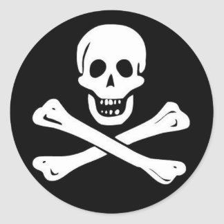 Piratas Etiqueta Redonda