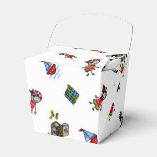 Piratas pequenitos caja para regalo de boda