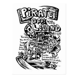Piratas por el Mordaza-Circo Osaka, Japón Postales