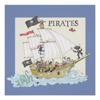 ¡Piratas! Póster