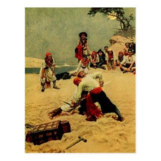 Piratas que luchan para ser capitán postales